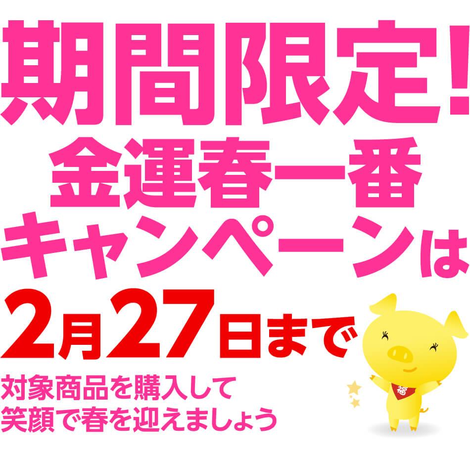 期間限定!金運春一番キャンペーンは2月27日まで