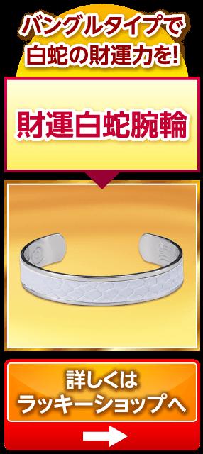 財運白蛇腕輪