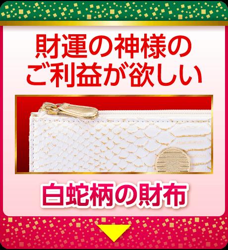 財運の神様のご利益が欲しい:白蛇柄の財布